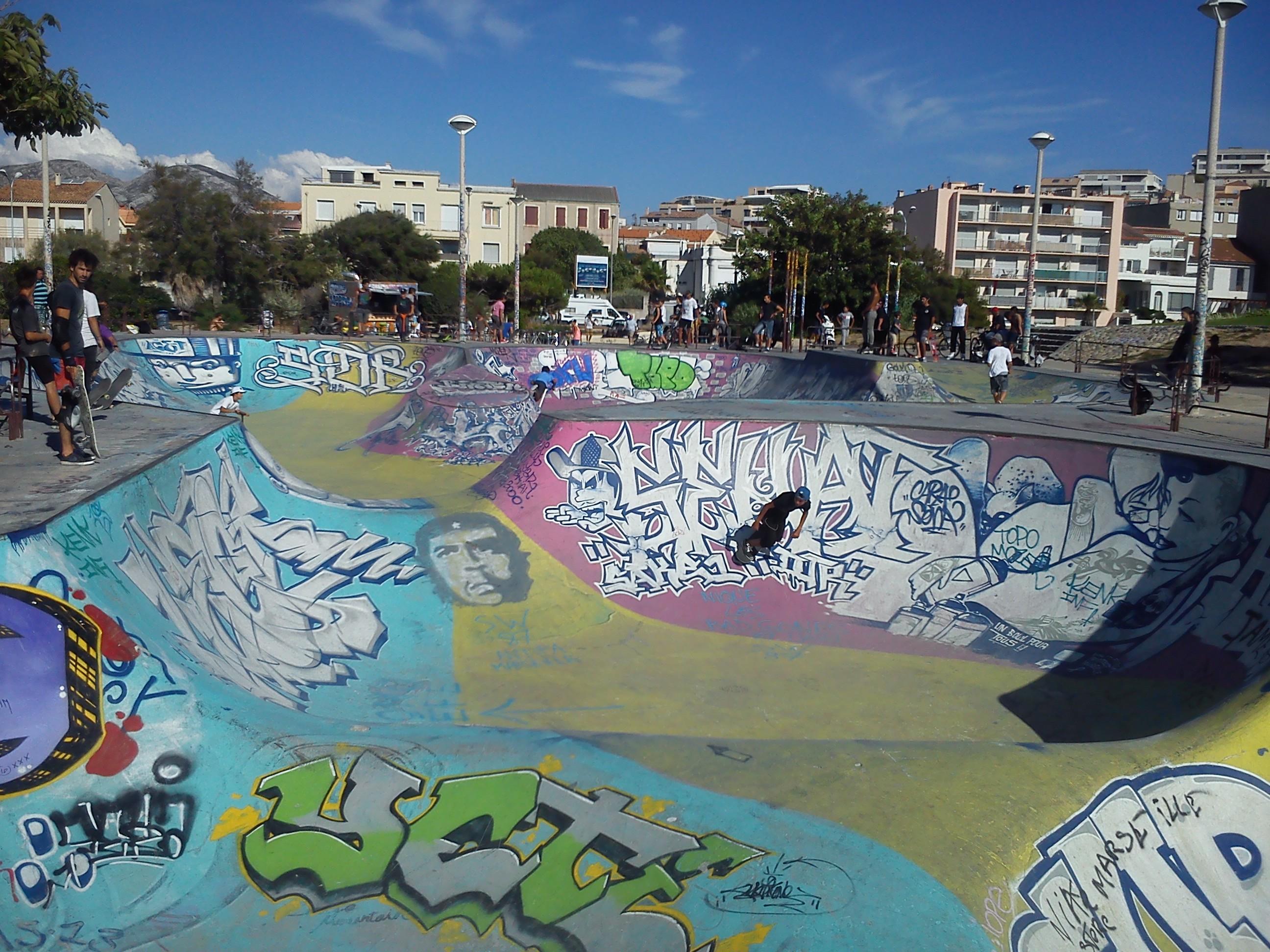 Skate park sur l'avenue Pierre Mendes France.