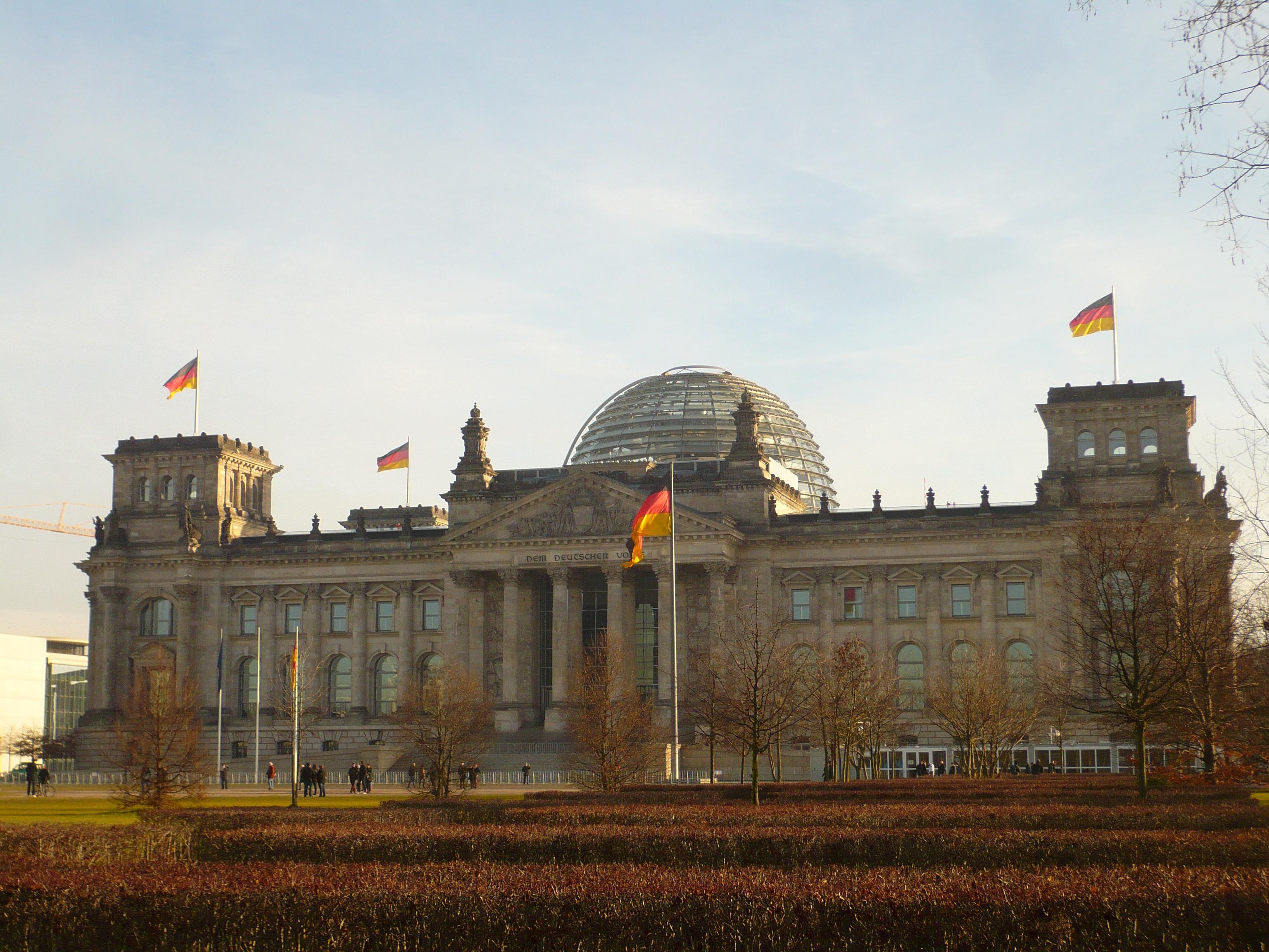 Bundestag, façade.