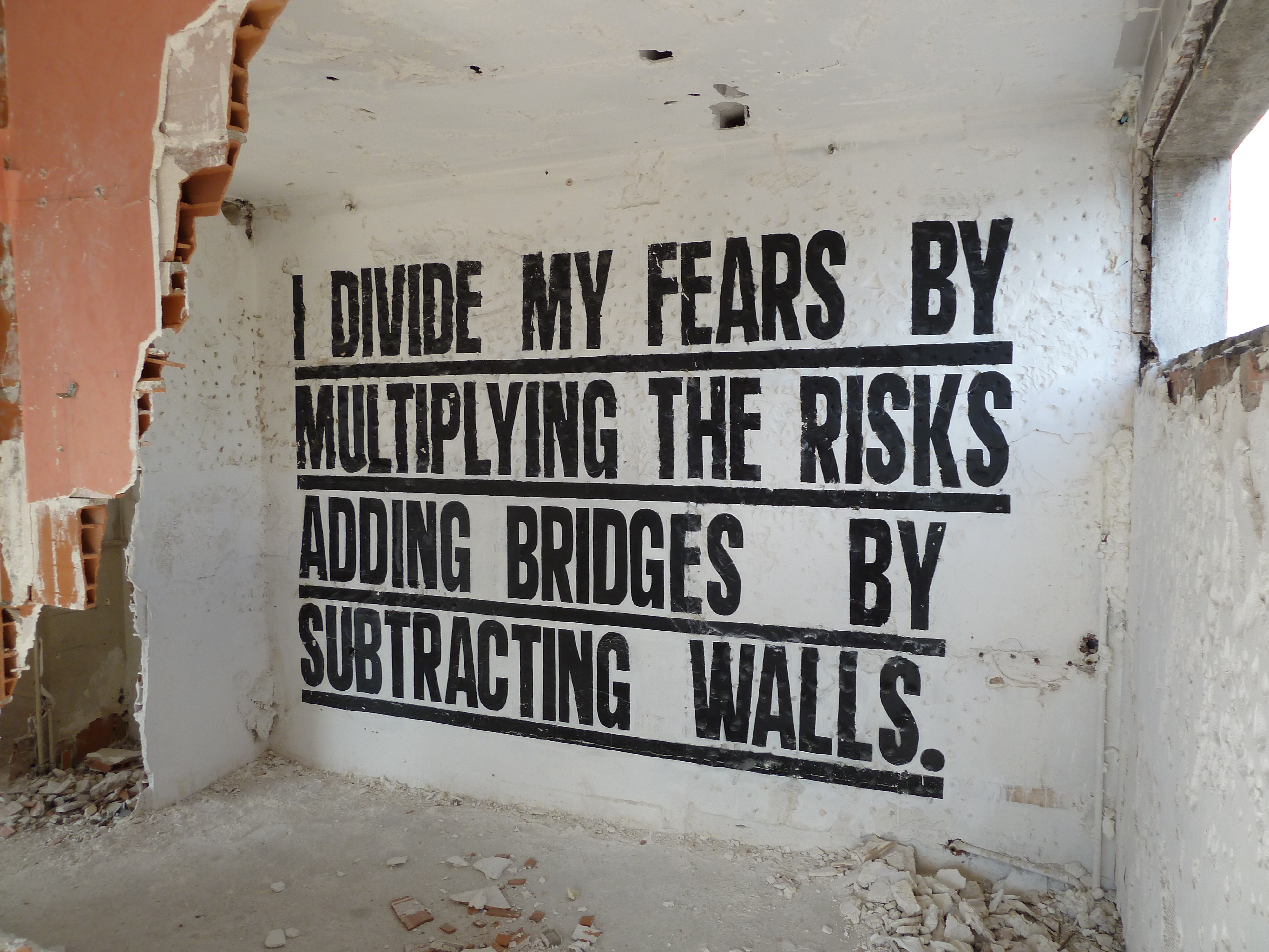 I divide my fears