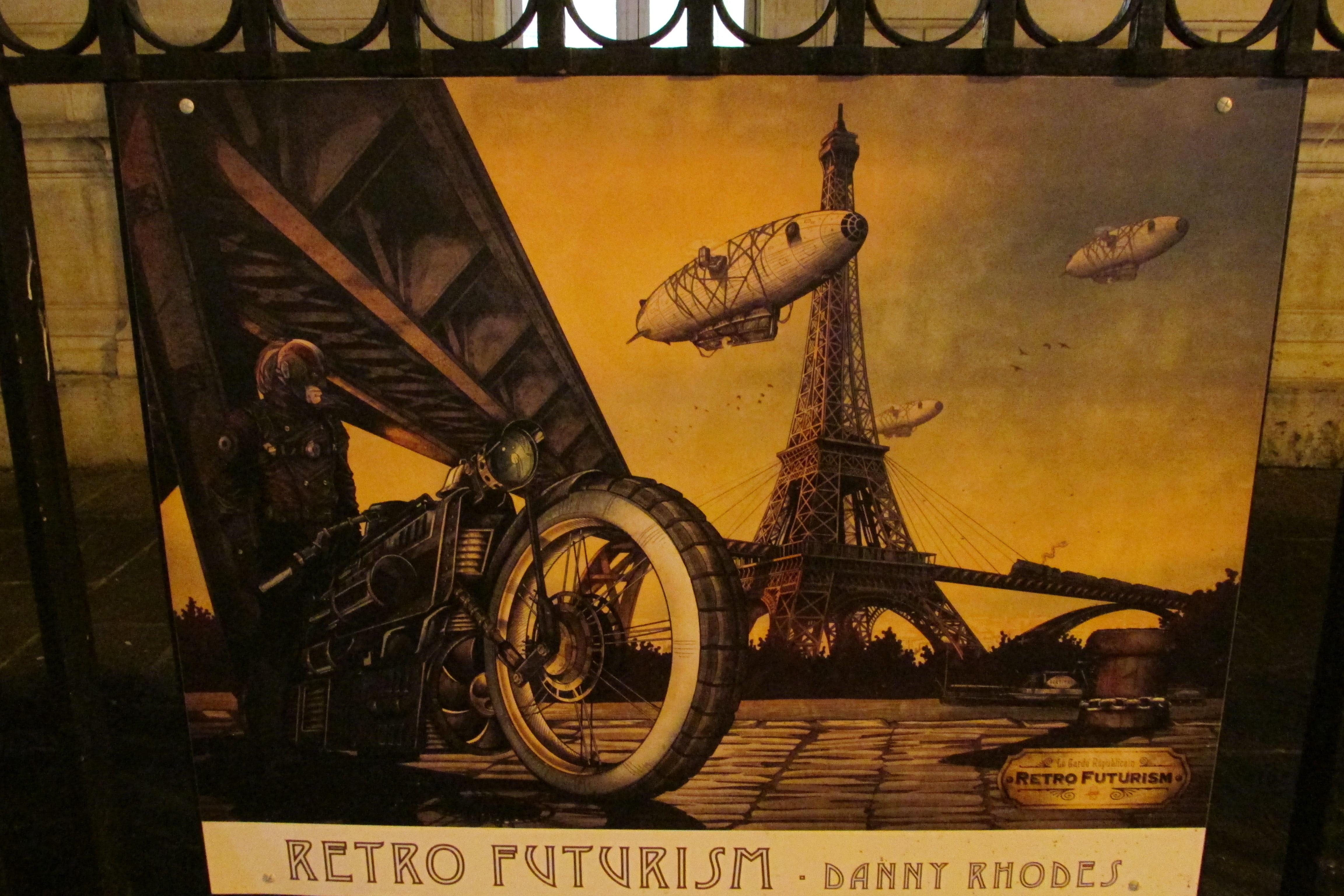 Affiche présentée dans le cadre d'une expo sur le métro parisien.