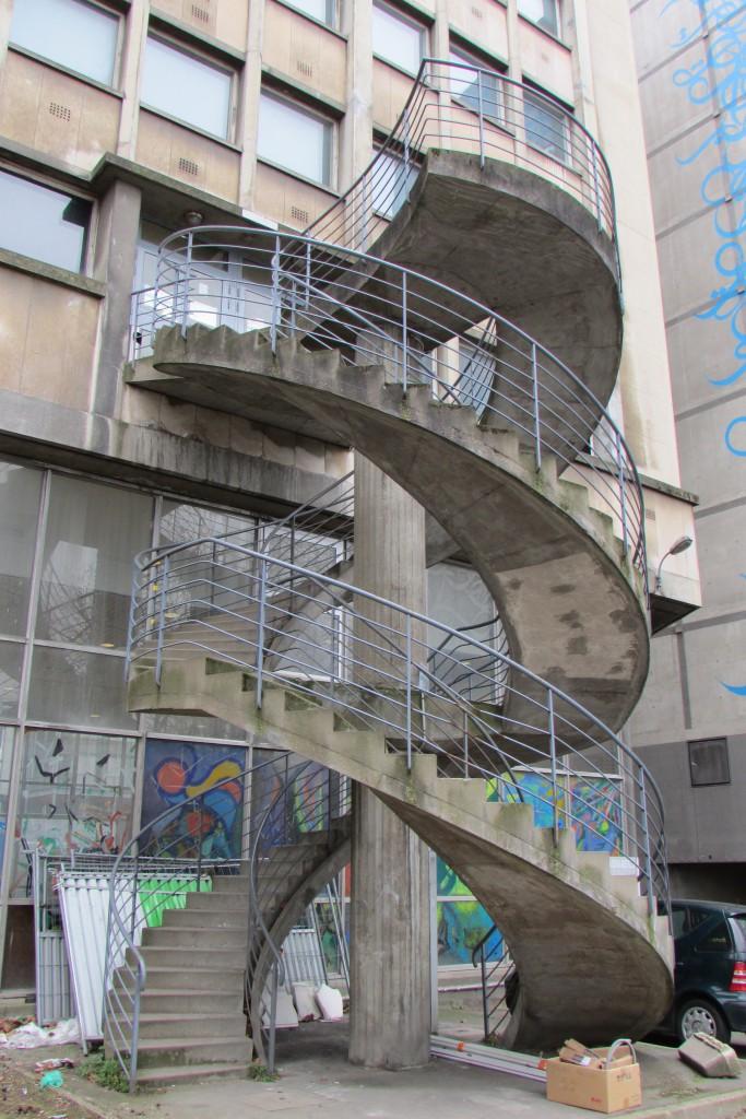 Escalier en double-hélice typique de Jussieu