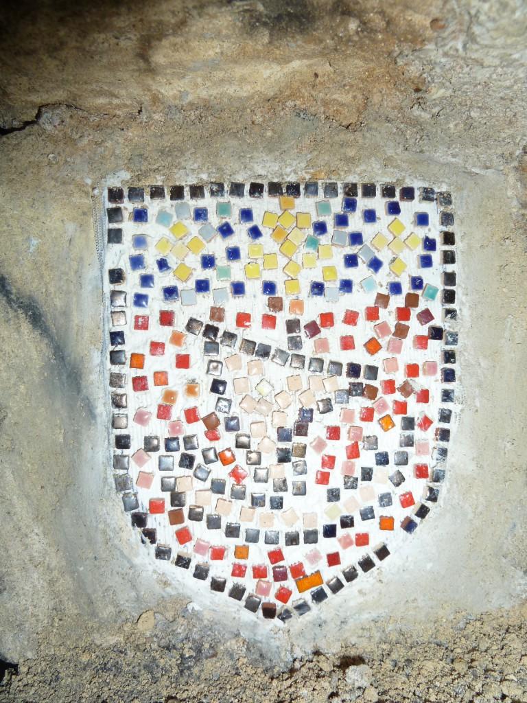 Salle des Trolls, mosaïque du blason de Paris