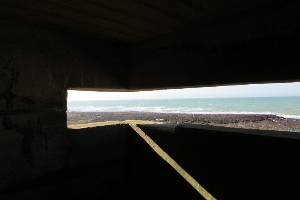 Depuis un bunker