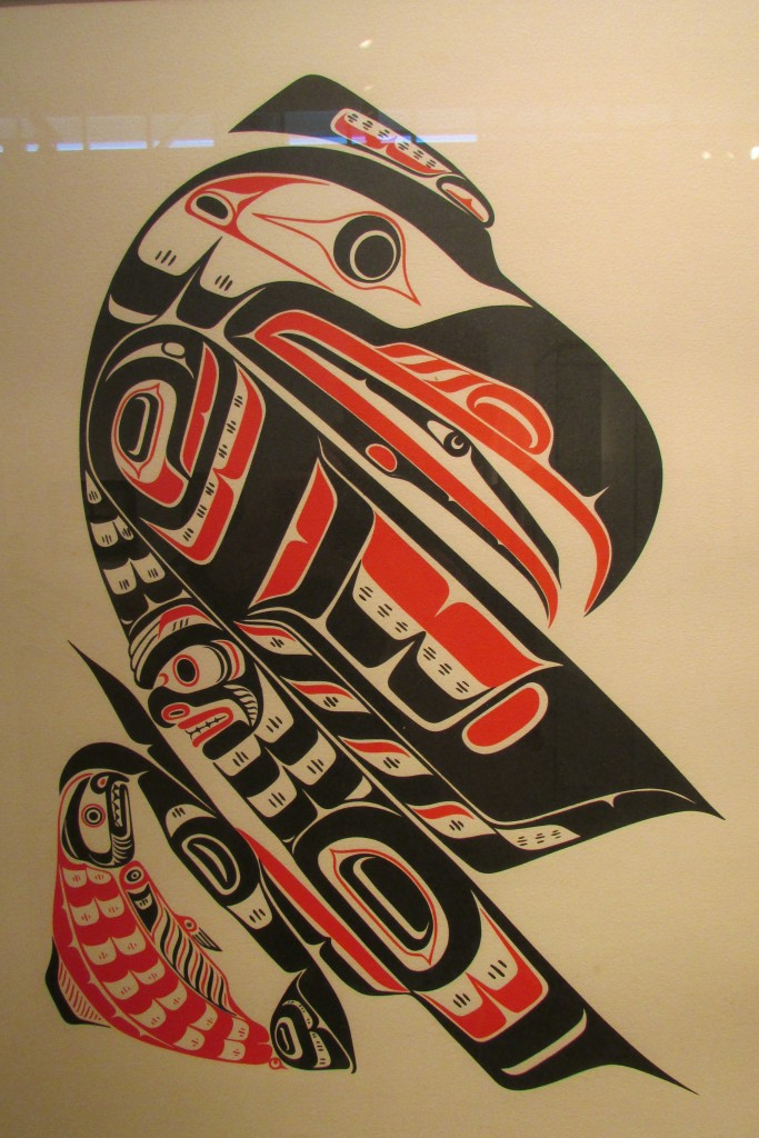 Roy J. Hanuse, Kwakiutl : Raven and salmon, 1991