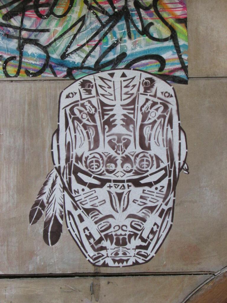 Iron Man dans le style amérindien