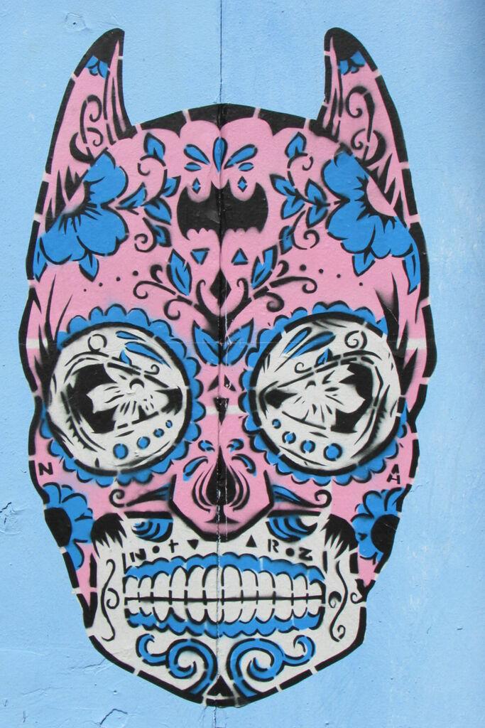 Batman rose et bleu