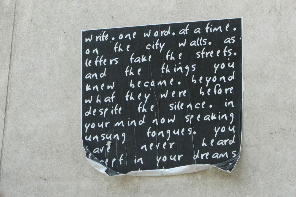 Writings on the walls.