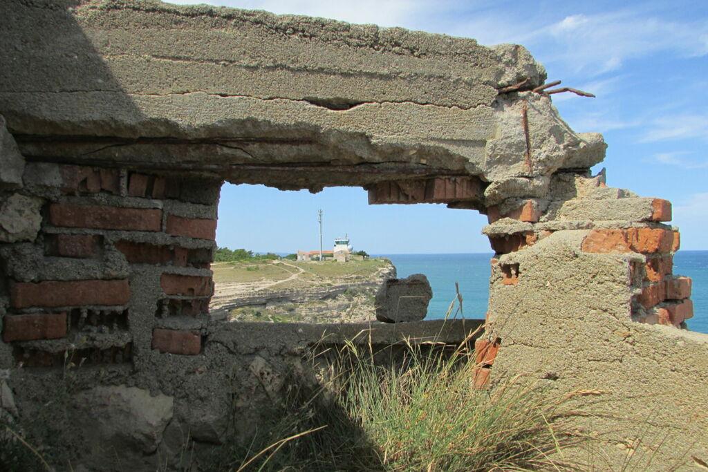 Blockhaus, reste du mur...