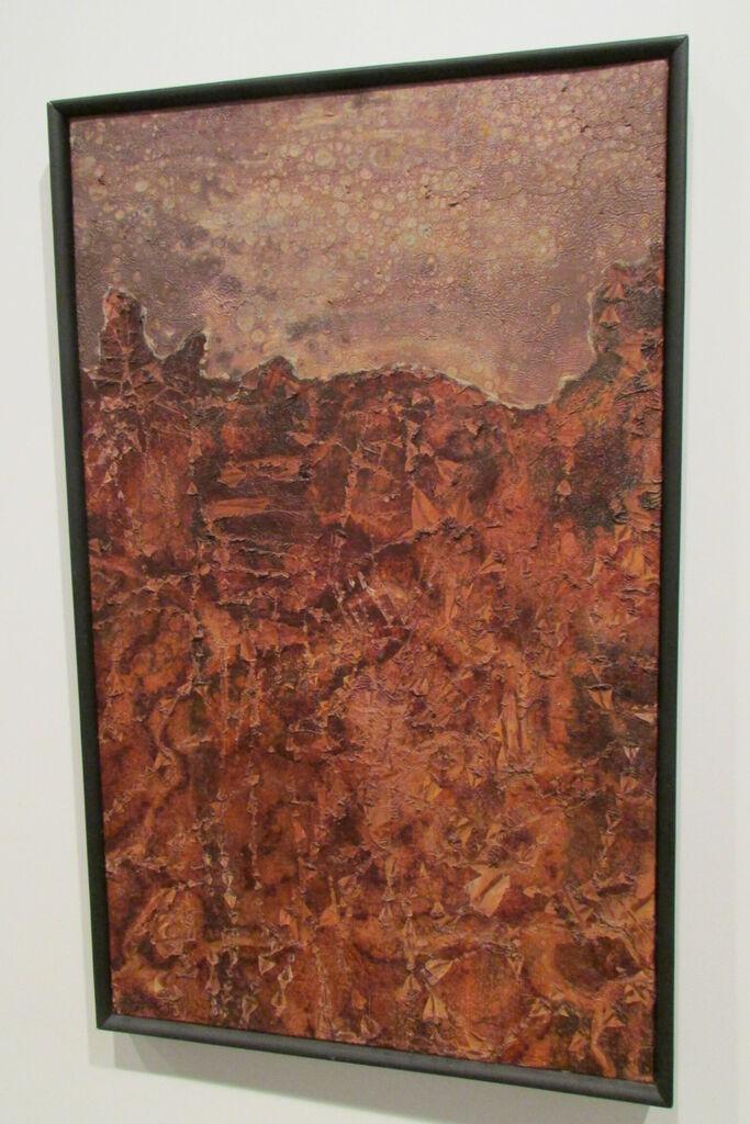 Paysage au ciel tavelé - jean Dubuffet, 1952