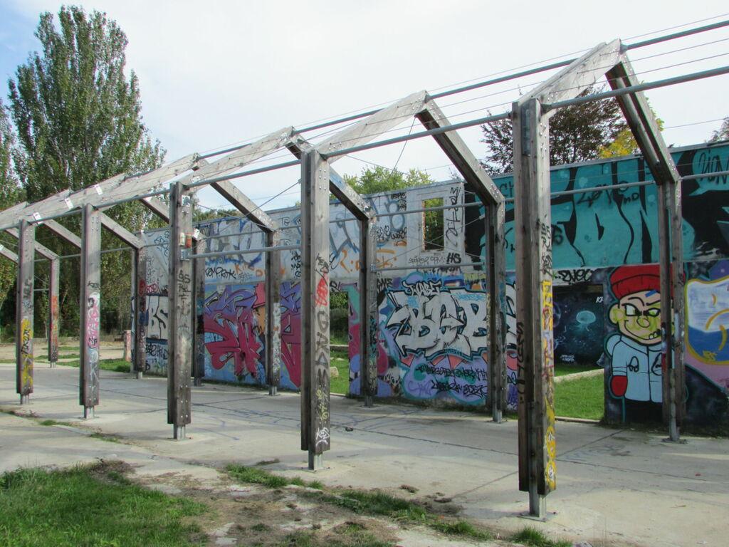 Skate-parc sur un ancien site de forçage des lilas