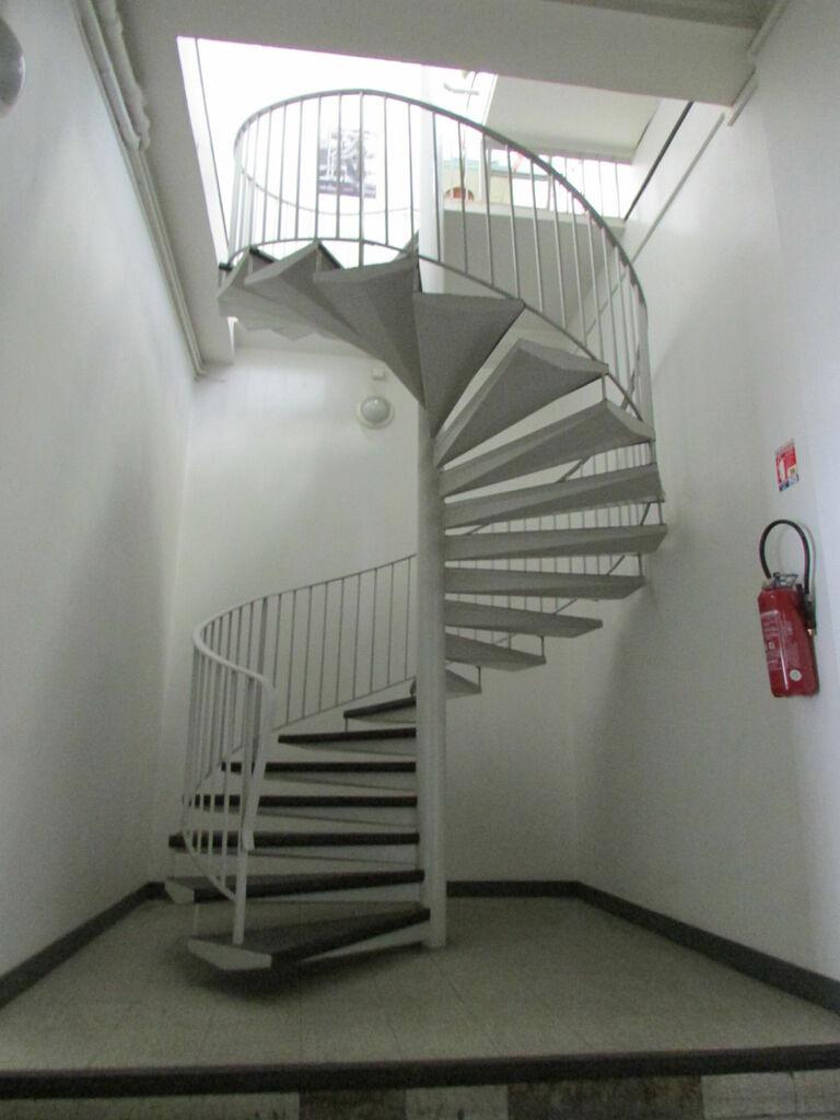 Un escalier exposé