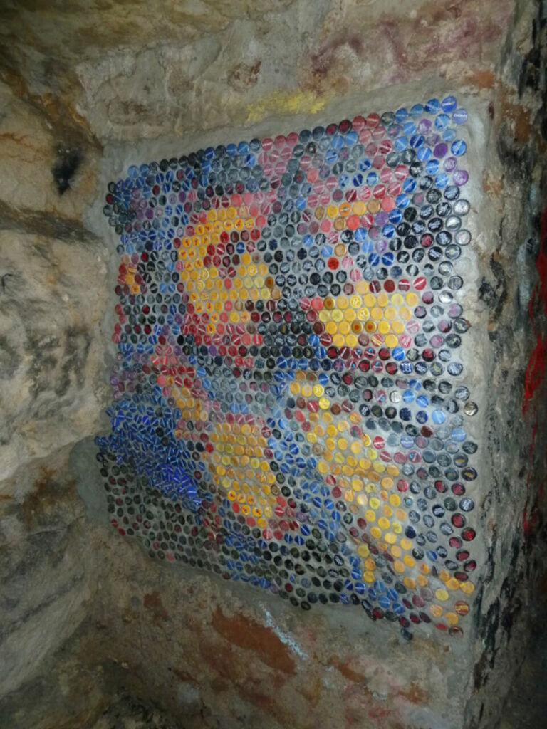 Mosaique en capsules de bière