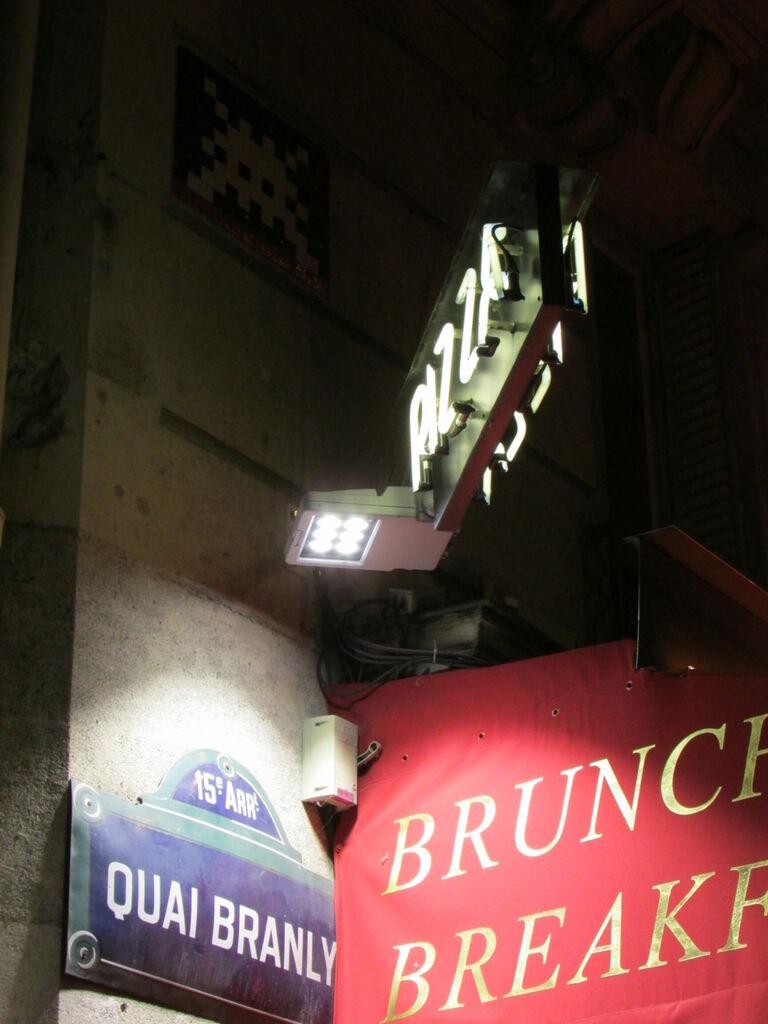 Brunch, pizza et quai de Branly