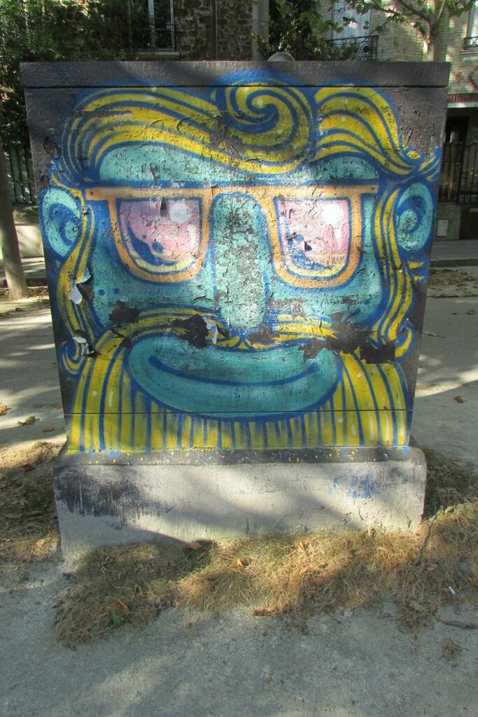 Dieu grec aux lunettes de soleil (interprétation personnelle)
