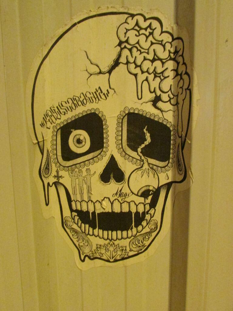 Crâne aux yeux pendants