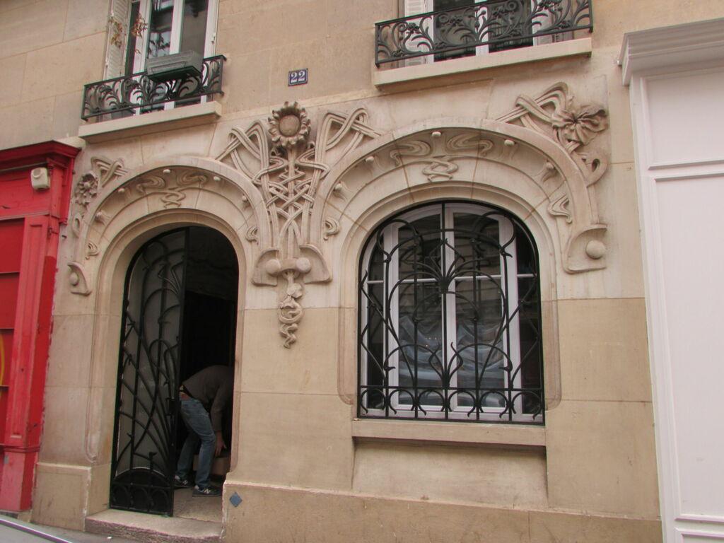 Façade style art nouveau