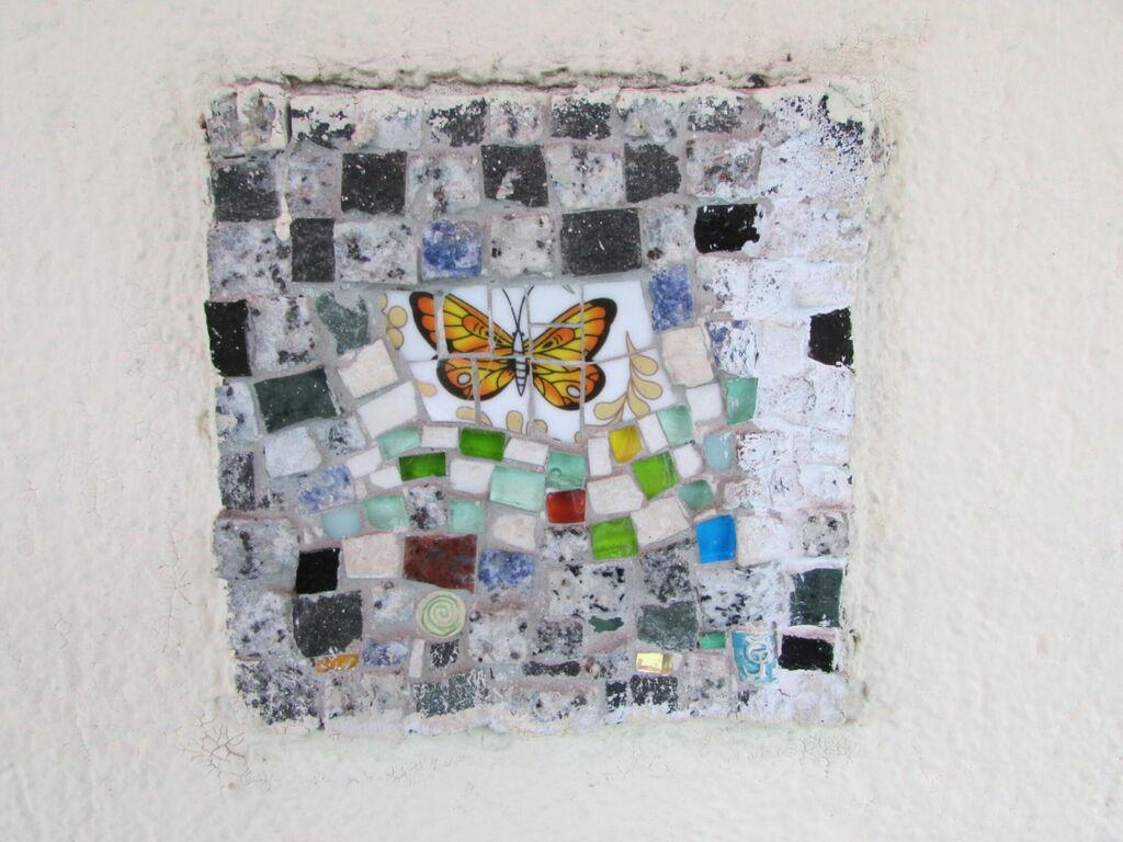 Mosaïque au papillon, Morèje